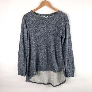 LNA Marled Asymmetrical Hem Sweatshirt NEW
